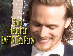 Sam Heughan Outlander |  Bafta Tea Party 2016 | Sam, Sweating and Spanking!