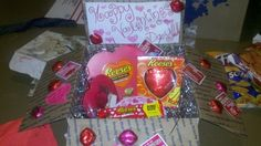 Reese's Pieces Valentine's Day Care package
