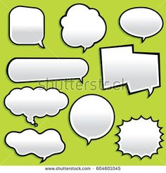 Miscellaneous vector chat and communication word bubble