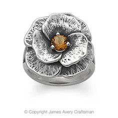 Floral Ring with Citrine from James Avery