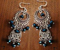Σκουλαρικια ασημι boho με μπλε κρυσταλλακια 10€  fotinimamali@yahoo.gr Drop Earrings, Boho, Jewelry, Fashion, Moda, Jewlery, Jewerly, Fashion Styles, Schmuck