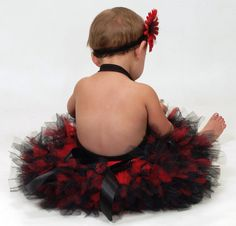 Little Ladybug Birthday Tutu Skirt Set by StrawberrieRose on Etsy, $49.95