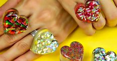 OK. You have to check out this tutorial because it is super easy to make these amazing and adorable DIY rings. When I first saw them, I figured they were going to be super tricky since they look so incredible. However, you only need a heart shaped ice cube tray (mine came from IKEA and I am pretty s