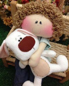 Diy Doll Pattern, Doll Patterns, Free To Use Images, Felt Dolls, Felt Christmas, Needle Felting, Bunny, Barbie, Arts And Crafts