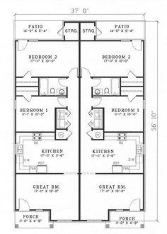 black and white rooms ideas Contemporary Duplex Plans Modern Duplex Builder Cutsom Home Duplex Floor Plans, Farmhouse Floor Plans, Apartment Floor Plans, Floor Plan 4 Bedroom, Bedroom House Plans, The Plan, How To Plan, Best House Plans, Small House Plans