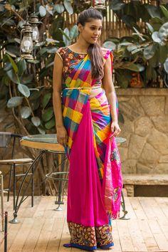 ae5ebdbed04181 Zarna silk saree digital printed with blouse