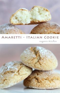 Simple Amaretti – Italian Macaron Cookies – Gluten Free I love almond flavor and the delicate texture of macarons. So Amaretti, Italian macaron, is perfect treat any time for me. For this recipe you don't need to beat the egg … Continue reading → Italian Cookie Recipes, Italian Cookies, Italian Desserts, Just Desserts, Dessert Recipes, Italian Macarons, Italian Pastries, Italian Foods, French Cookies