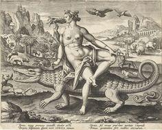 Afrika, Adriaen Collaert, 1586 - 1591