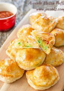 Baked Avocado Mozzarella Puffs - (Free Recipe below)