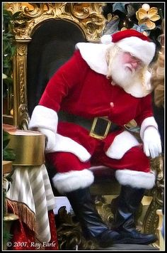 Different faces of Santa Claus