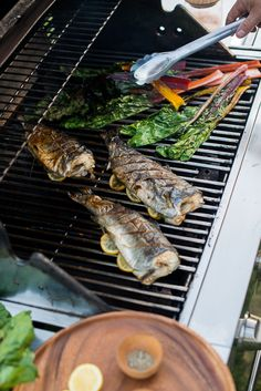 Grilled Rainbow Trout and Rainbow Chard: Besides the traditional grilling dishes of burgers and bbq, a wonderful way to celebrate grilling season is incorporating a seasonal menu that's both fresh and healthy.