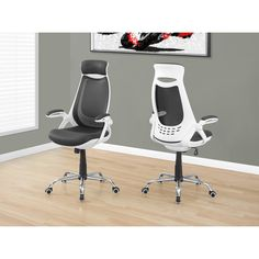 Monarch White/ Mesh High-back Executive Office Chair