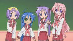Konata, Miyuki, Tsukasa and Kagami