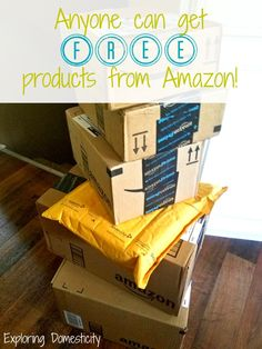 Anyone can get FREE products from Amazon and it's so easy! You may even MAKE MONEY along with some awesome freebies! This is perfect for stay-at-home-mom or anyone who loves free stuff!