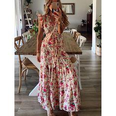 Casual Summer Dresses, Summer Dresses For Women, Dress Summer, Dress Casual, Summer Outfits, Types Of Dresses, Day Dresses, Dress Outfits, Floral Maxi Dress
