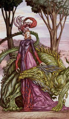 Strength - Universal Fantasy Tarot