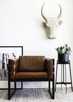 Add an edge with well crafted unique pieces. #modern #style # apartment #zenith #bossarmchair # darkhorse Dark Horse, Modern Furniture, Love Seat, Armchair, Mid Century, Couch, Unique, Crafts, Design