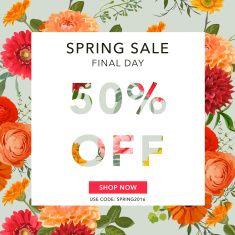 Spring Sale Banner. Sale background. Big sale. Floral Sale Tag vector art illustration