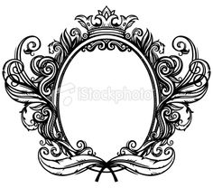 baroque style Royalty Free Stock Vector Art Illustration