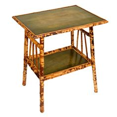 Victorian Bamboo 2-Tier Side Table, England, Late 19th Century