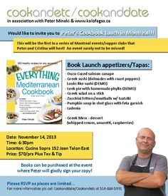 Everything Meditteranean Cookbook Launch in Montreal!