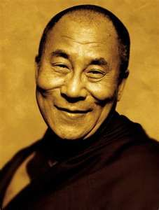 My inspiration: Born in northeastern Tibet in 1935 and recognized as the Fourteenth Dali Lama through prophecies, visions, extraordinary occurrences and tests at the mere age of two. How ya like them apples?