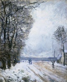 """""""The Frost"""" by Alfred Sisley (1839–1899)"""