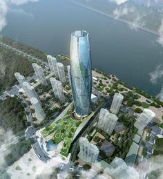 Called the New City Flower, this skyscraper is located in Fushun City in the Liaoning Province of China and it was designed by the UA Studio 7 starting from an initial concept and exploring it until the arrival at the … Continue reading → Urban Architecture, Futuristic Architecture, Beautiful Architecture, Sustainable Architecture, Architecture Details, Unusual Buildings, Amazing Buildings, Future Buildings, Futuristic City