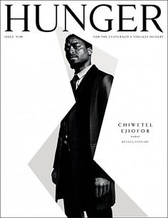 Chiwetel Ejiofor for Hunger Magazine cover, issue 05 | Magazine Cover: Graphic Design, Typography, Photography |