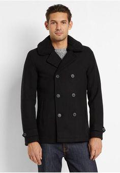 Topman Six Button Borg Pea Coat #jacket #men #covetme #topman
