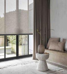 Interior Design London, Interior Design Curtains, Interior Windows, Luxury Interior, Interior Architecture, Living Room Modern, Home And Living, Living Room Decor, Home Curtains