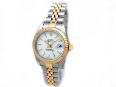 18k Yellow Gold and Stainless Steel. White Dial. #79173