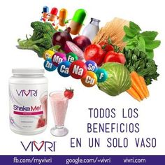 """All benefits in one glass"" #vivri #beneficios #shakeme"