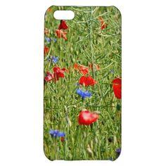 #Sommerfeld mit #roten und #blauen #Blumen  27,95 € pro #iPhone #Hülle  von #Zazzle.de
