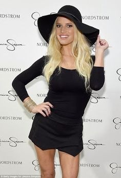 Jessica Simpson at her fall fashion show at the LA Nordstrom