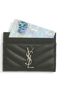 Saint Laurent Saint Laurent 'Monogram' Credit Card Case available at #Nordstrom