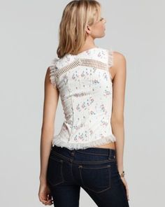Free People Floral Corset Top