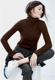 Turtle necks and sneakers…