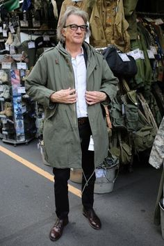 Paul Smith himself, I saw him once at an airport and he looked super slick, a little tired but slick!