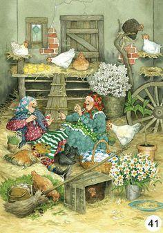 Artists Ing, Granny, Löök Illustration, Ing Löök S, Hens House, Hens Parties, Postcards 41, Gathering Eggs, Ing Looks