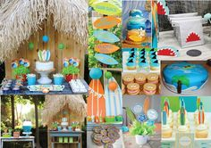 SURF or LUAU PARTY on the beach