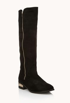Luxe Plated Heel Boot | FOREVER21