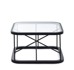 Woodnotes Twiggy side tables, oak black stained frame and glass top. Size 66,5x66,5x38,5 cm. #small table #livingroom #bedroom #interiordesign #interiordecor #home #homedecor #blacktable #mustapöytä #lasipöytä #glasstable #coffeetable #bedsidetable 3yöpöytä #sohvapöytä