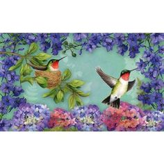 "Hummingbird Nest Floormat by House-Impressions. $18.99. 30"" x 18"". Perfect to fit in our rubber tray (2DMF004B). Silk Reflections Floormat. A beautiful addition to your home. Grace your doorway with our weather and wear resistant doormats. With our unique and creative designs, it's almost a shame to use these mats to wipe one's feet!"