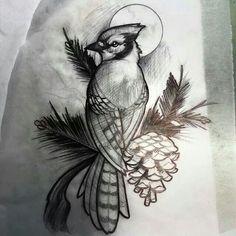 Blue jay sketch by matt rictus tattoo ideas blue jay tattoo, Blue Jay Tattoo, Bird Drawings, Tattoo Drawings, Trendy Tattoos, New Tattoos, Skull Tattoo Design, Tattoo Designs, Sake Tattoo, Tatoo Brothers