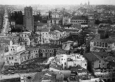 Foto storiche di Roma - Quartiere Alessandrino prima delle demolizioni per la realizzazione di via dei Fori Imperiali Anno: 1930 ca
