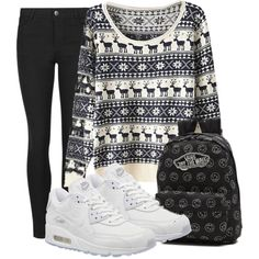 A fashion look from December 2015 featuring Indigo Collection leggings, NIKE sneakers and Vans backpacks. Browse and shop related looks.