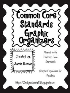 Common Core Standards Graphic Organizers FREE Sample!    Ask Questions, Character Response