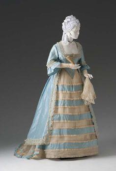 Ball Gown (Bodice, Overskirt, Skirt)  circa 1865-1870  Unknown American Maker  Silk, tarlatan  2006.101.7A-C  Mint Museum
