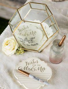 18 Πρωτότυπες Ιδέες για Διακόσμηση Γάμου με Μεταλλικά Γεωμετρικά Σχήματα - Bride Diaries